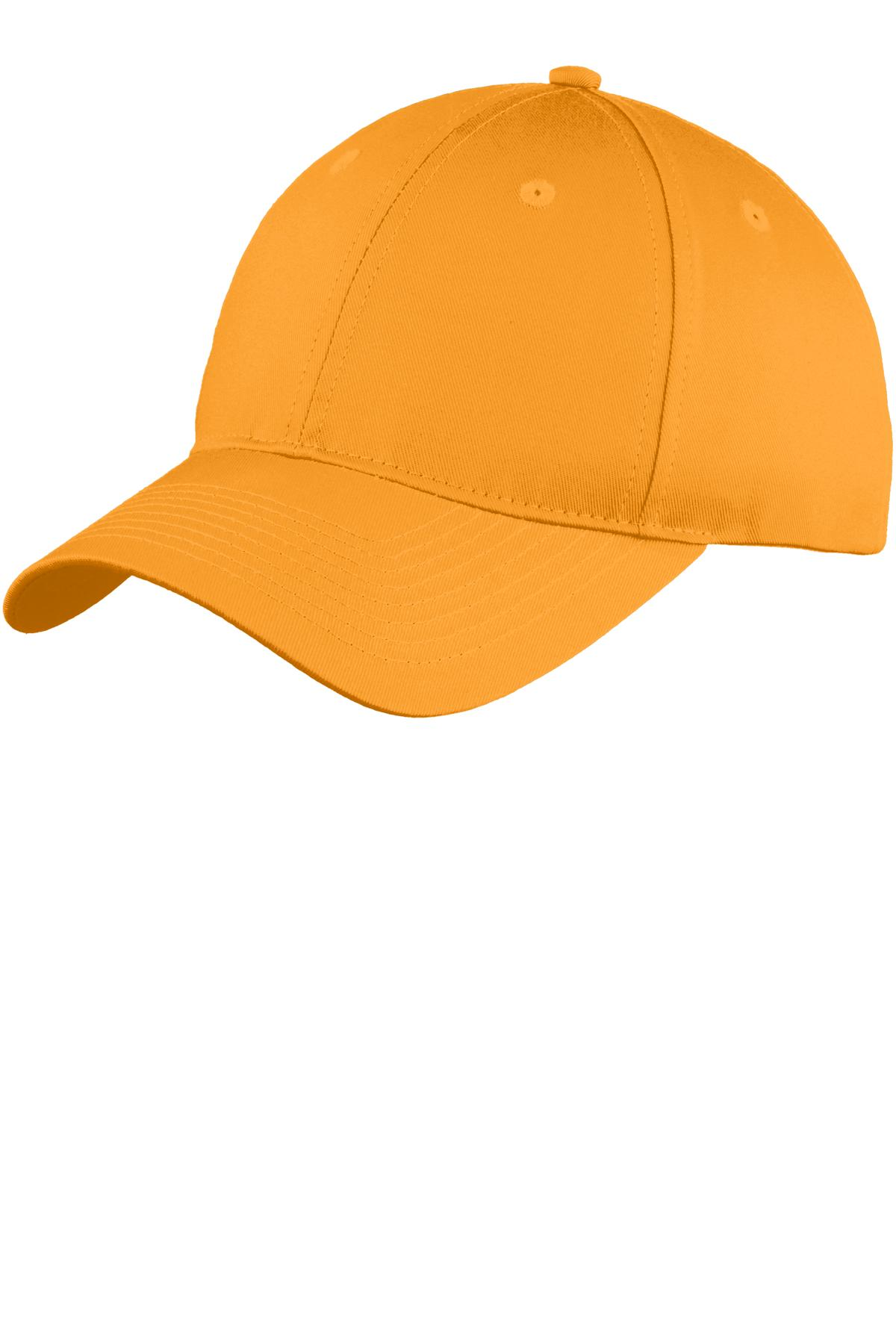Port & Company® Six-Panel Unstructured Twill Cap. WITH YOUR COMPANY NAME OR LOGO