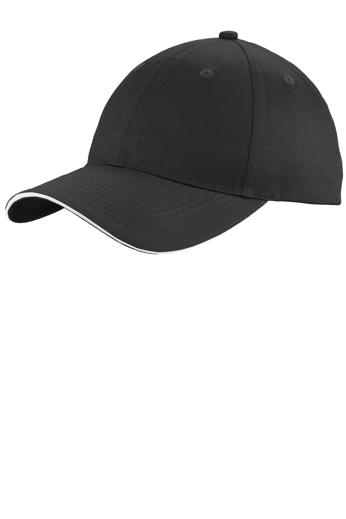 Port & Company® Unstructured Sandwich Bill Cap. WITH YOUR COMPANY NAME OR LOGO