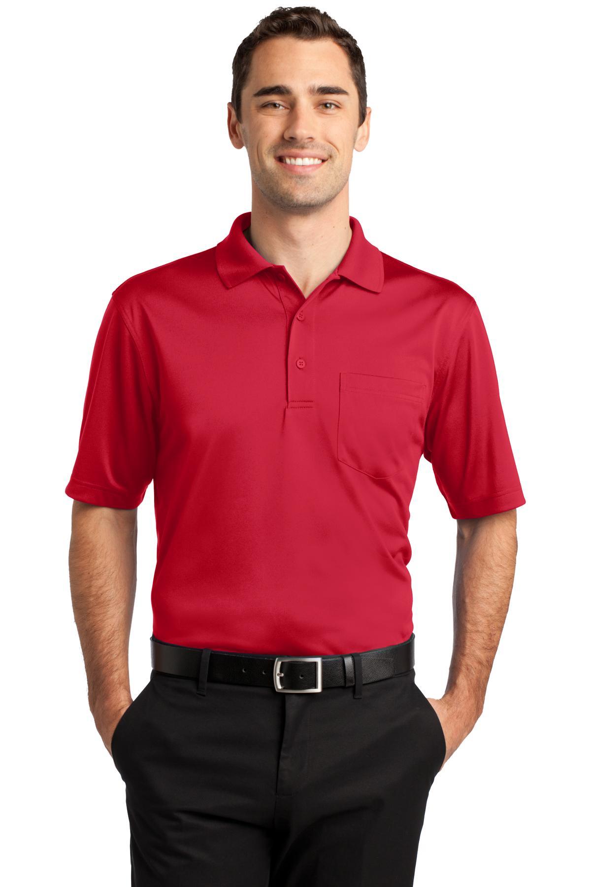 CornerStone® Select Snag-Proof Pocket Polo.-CornerStone