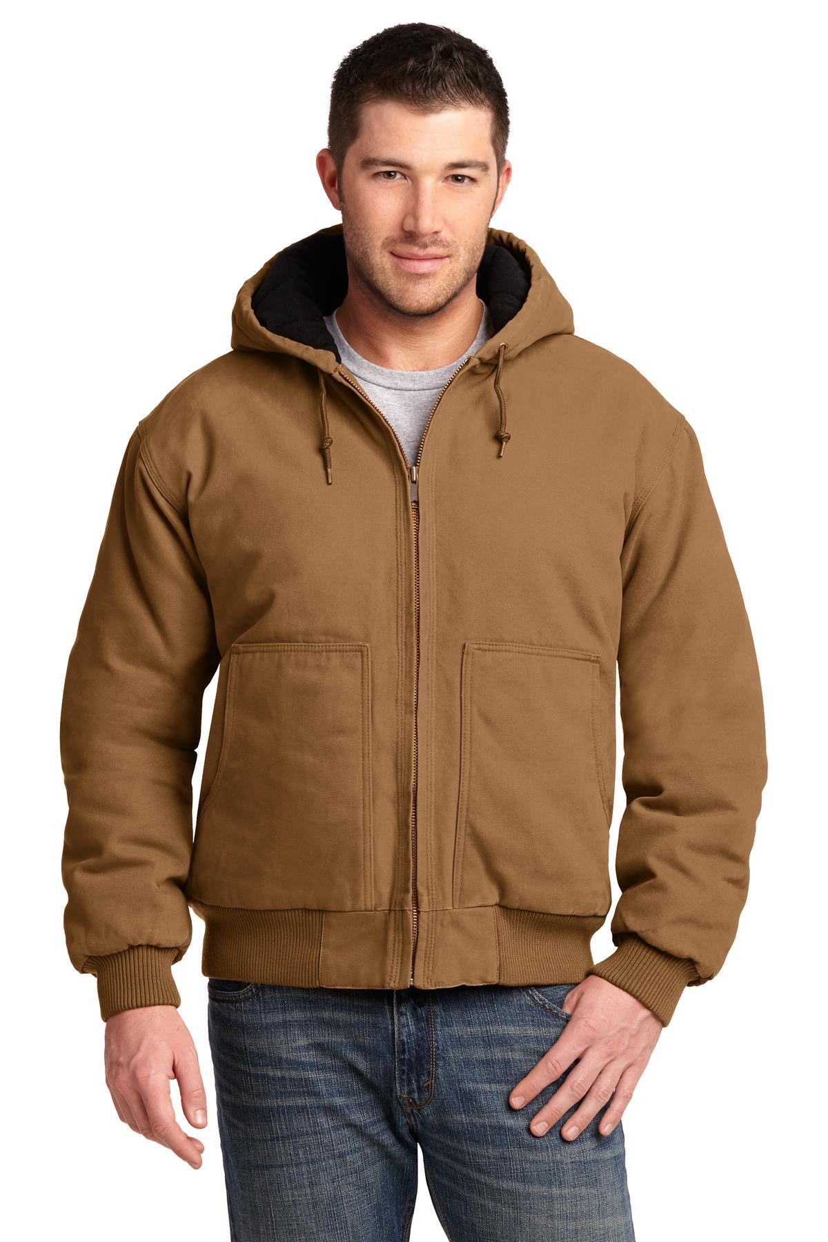 CornerStone® Washed Duck Cloth Insulated Hooded Work Jacket.-CornerStone