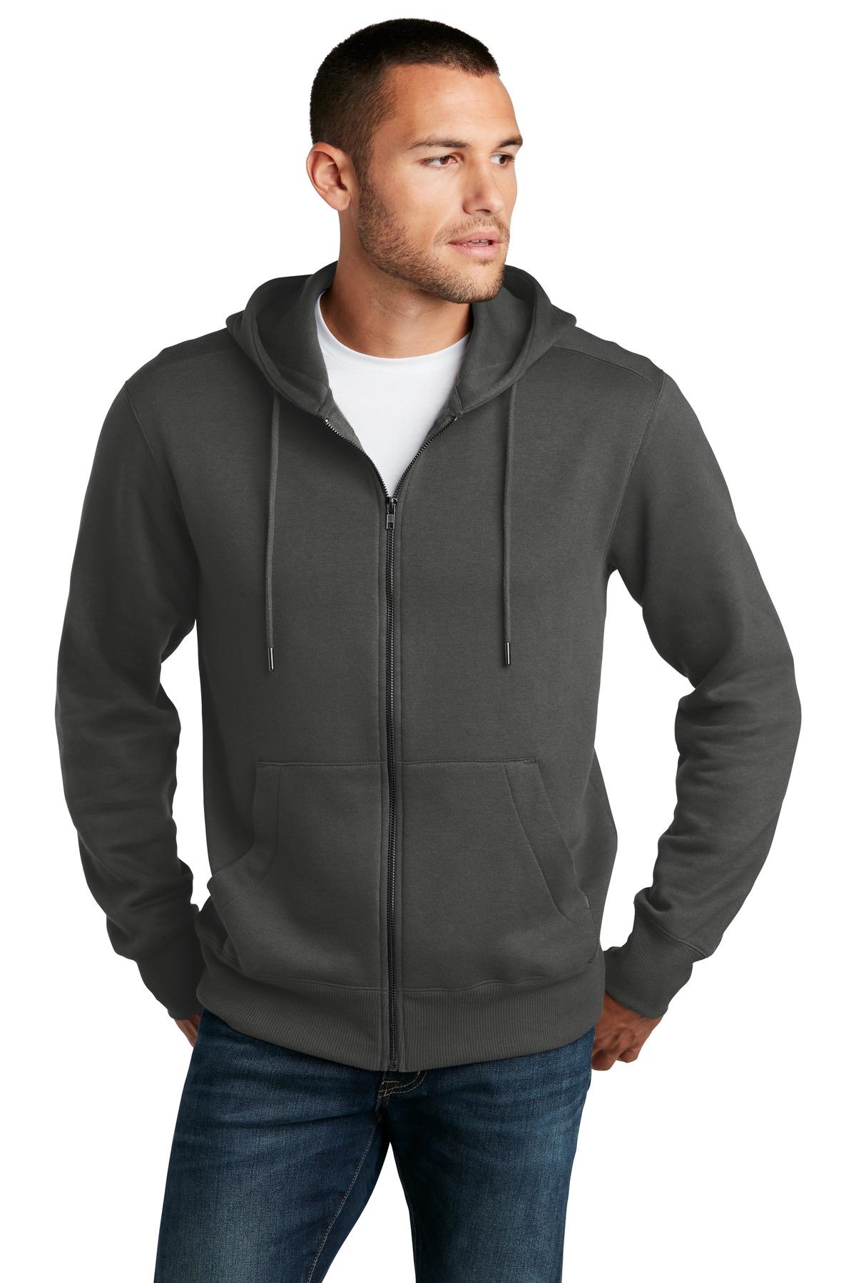 District Perfect Weight Fleece Full-Zip Hoodie-