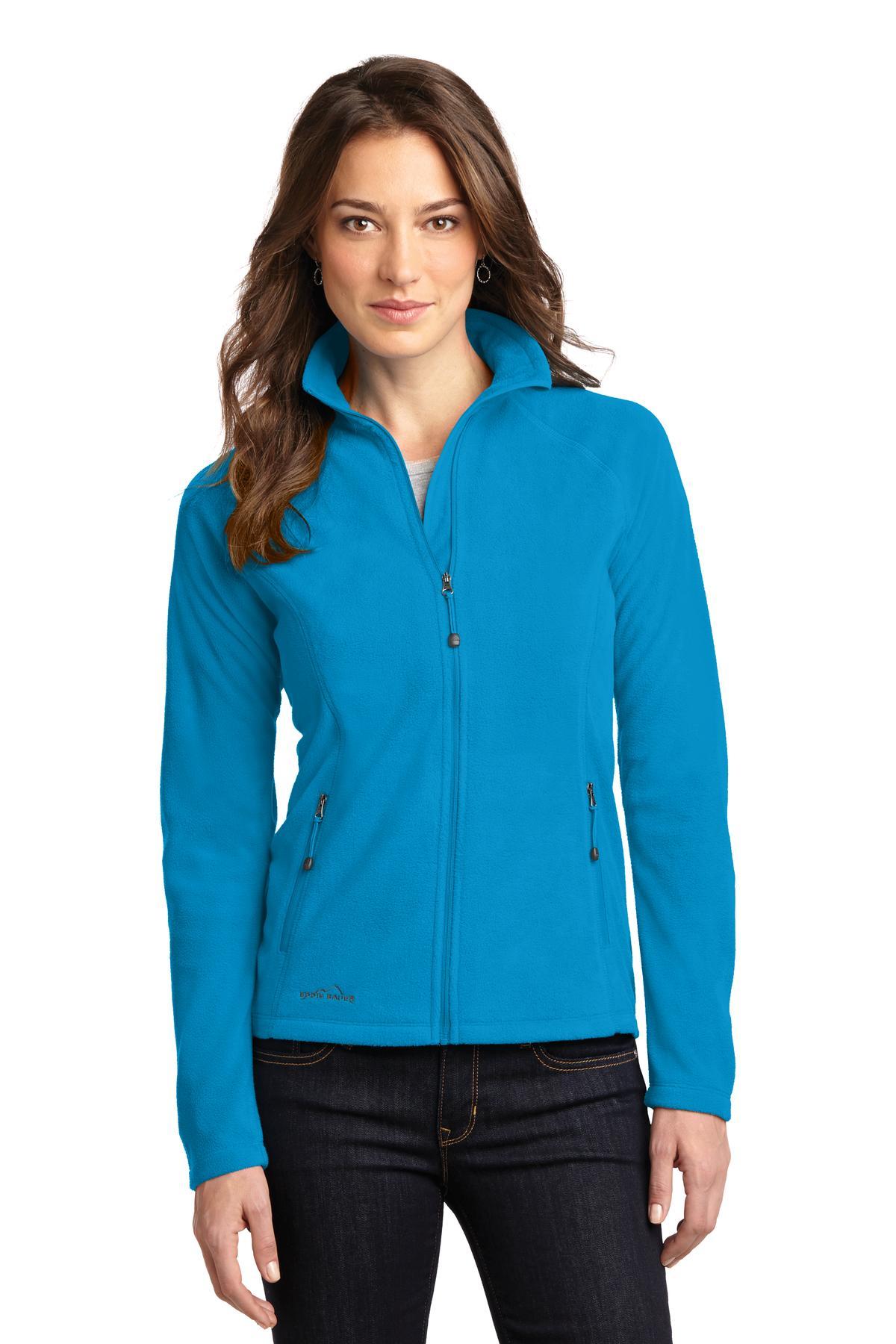 Eddie Bauer® Ladies Full-Zip Microfleece Jacket with Westminster Village Embroidered Logo-Eddie Bauer