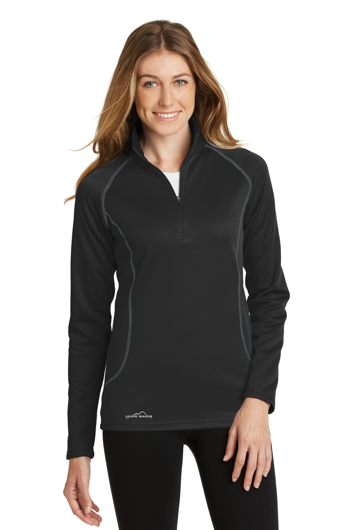 Eddie Bauer® Ladies 1/2-Zip Base Layer Fleece.-Eddie Bauer