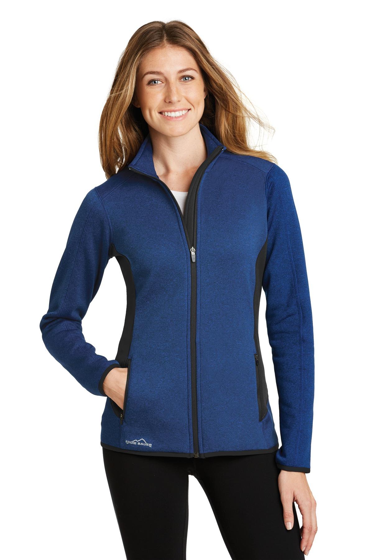 Eddie Bauer® Ladies Full-Zip Heather Stretch Fleece Jacket.-Eddie Bauer