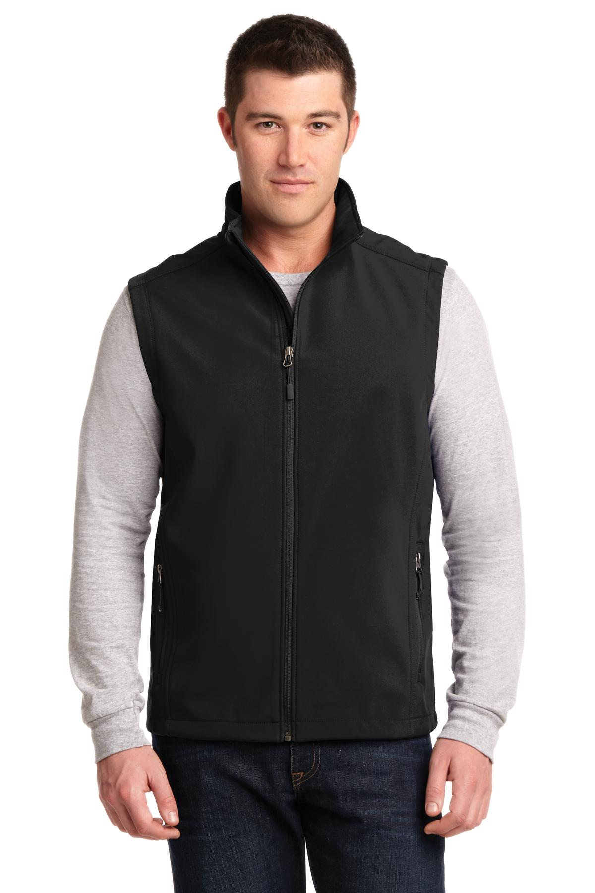 Wake Forest Mens Core Soft Shell Vest-Port Authority