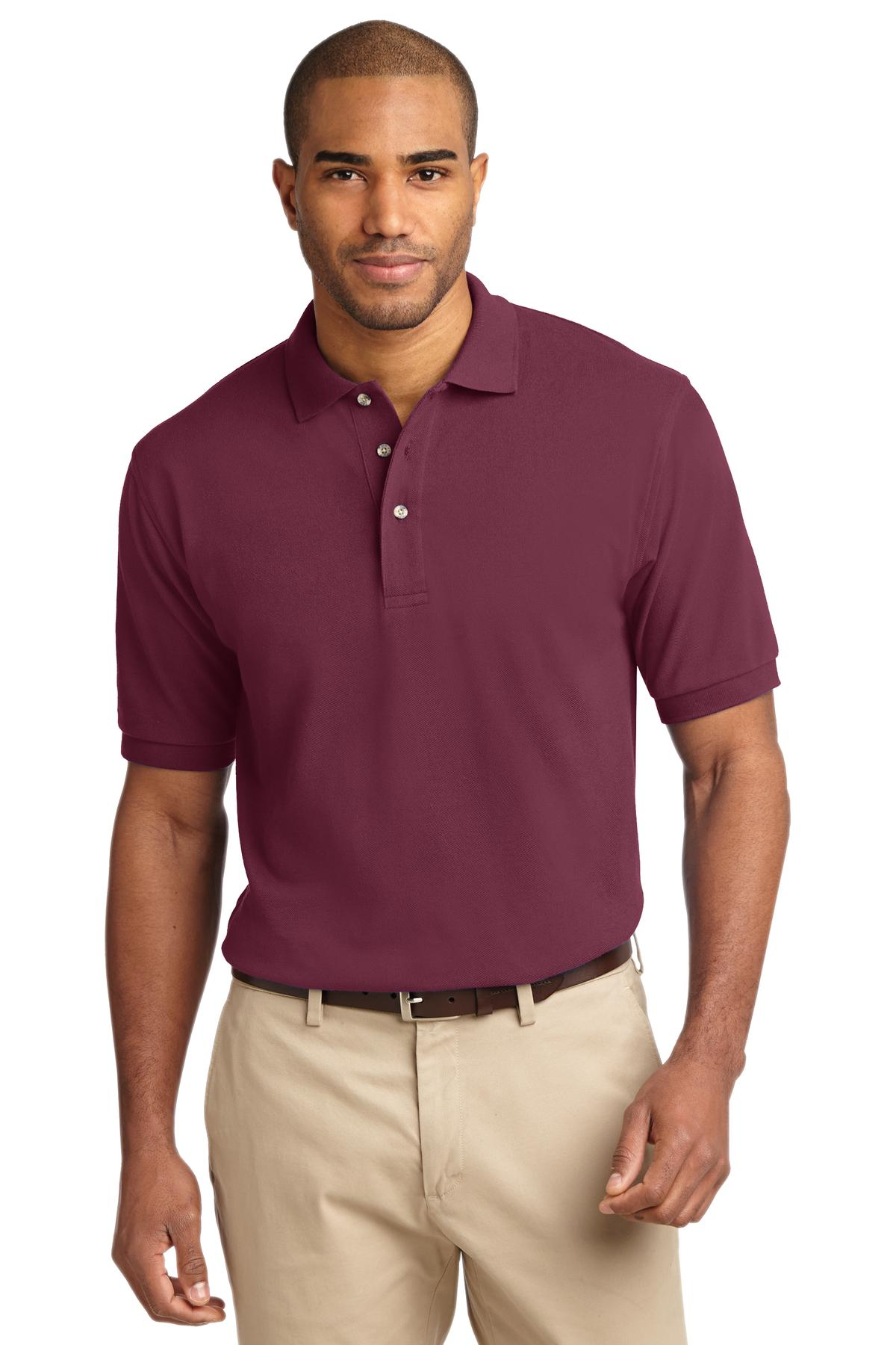 Port Authority® Heavyweight Cotton Pique Polo.-