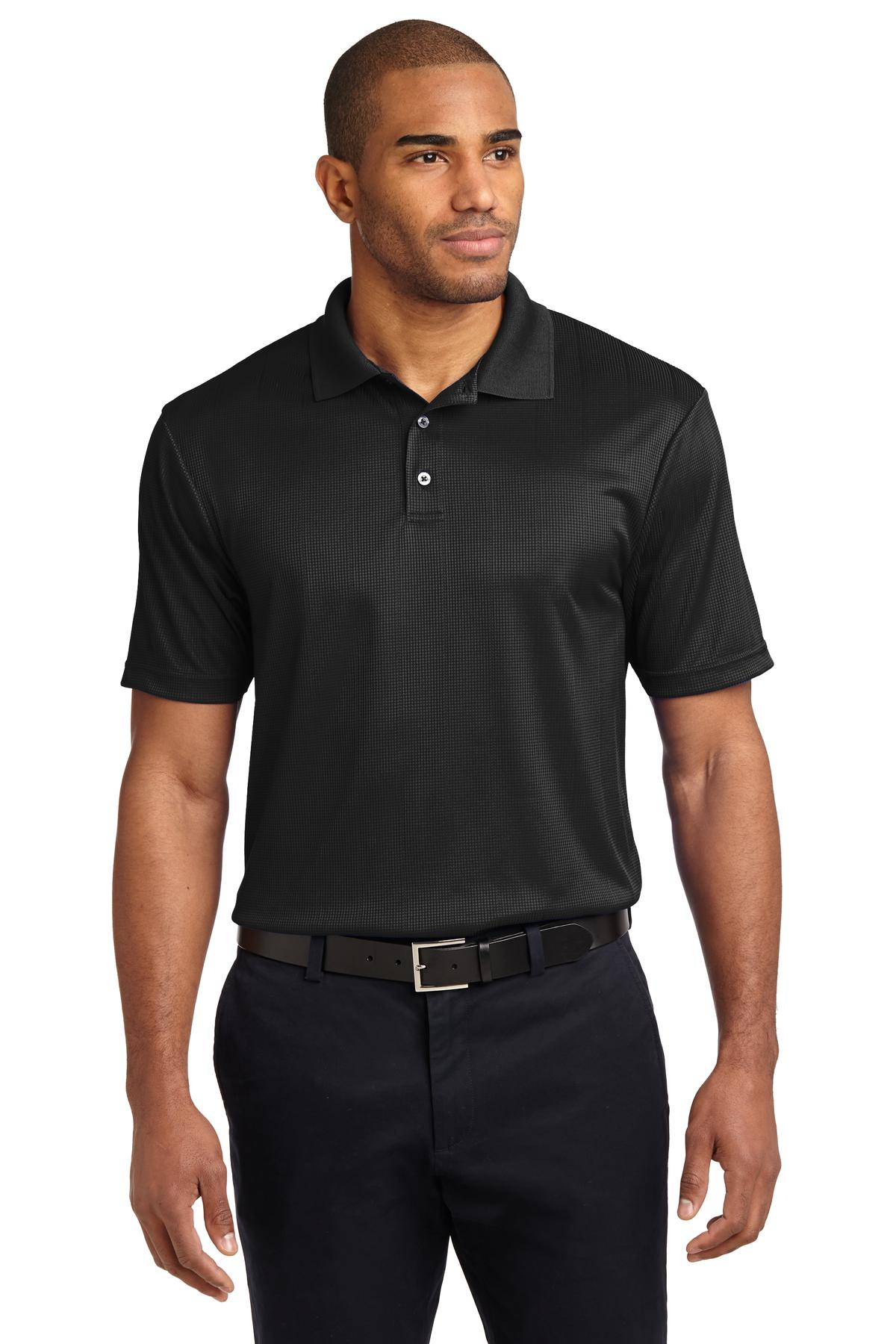 Port Authority® Performance Fine Jacquard Polo.-Port Authority