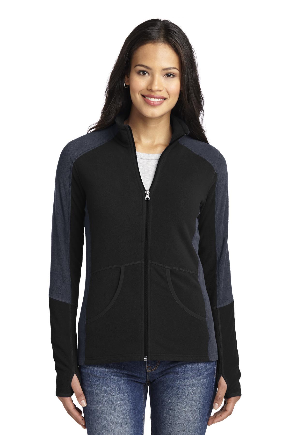 Port Authority® Ladies Colorblock Microfleece Jacket.-Port Authority