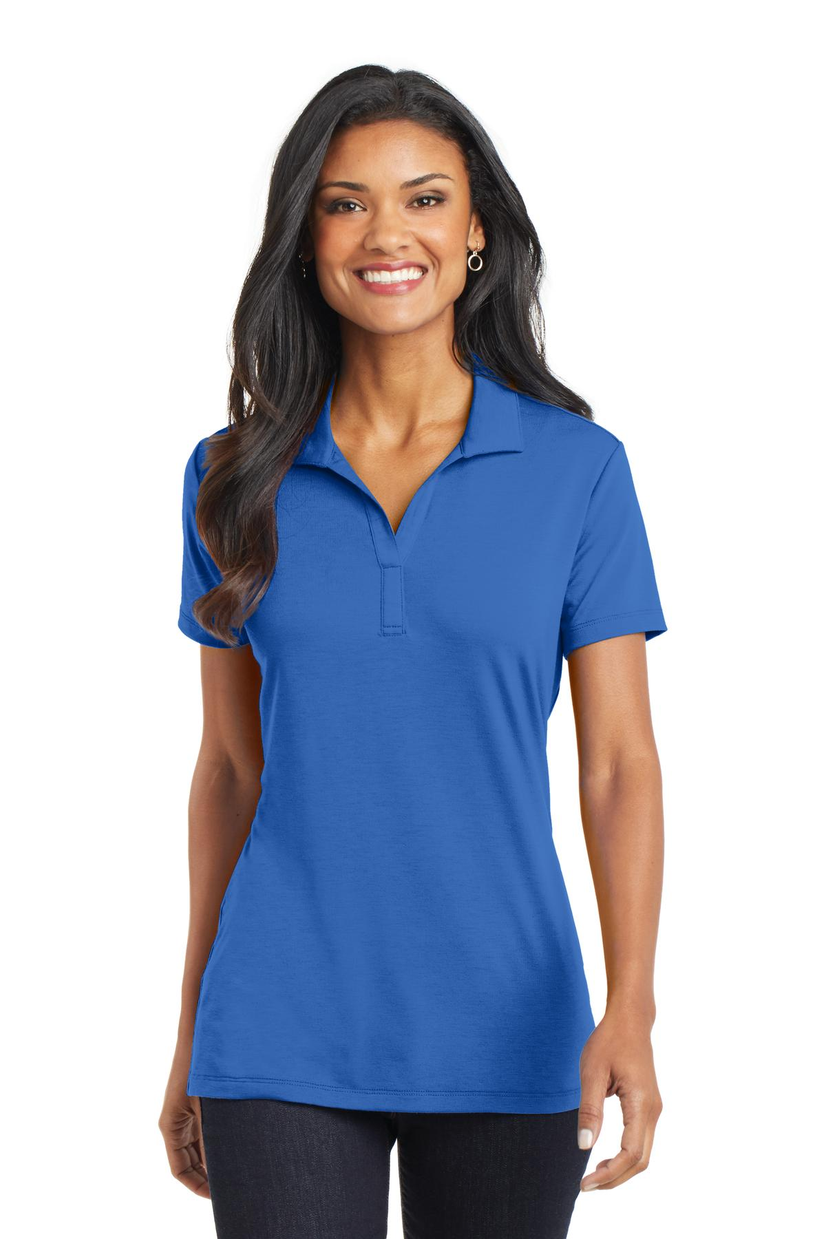 Port Authority® Ladies Cotton Touch Performance Polo.-Port Authority