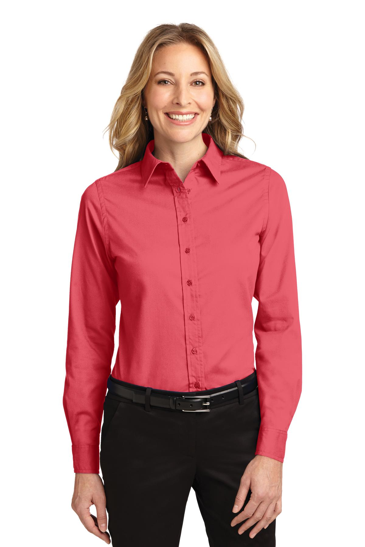 Port Authority® Ladies Long Sleeve Easy Care Shirt.-Port Authority