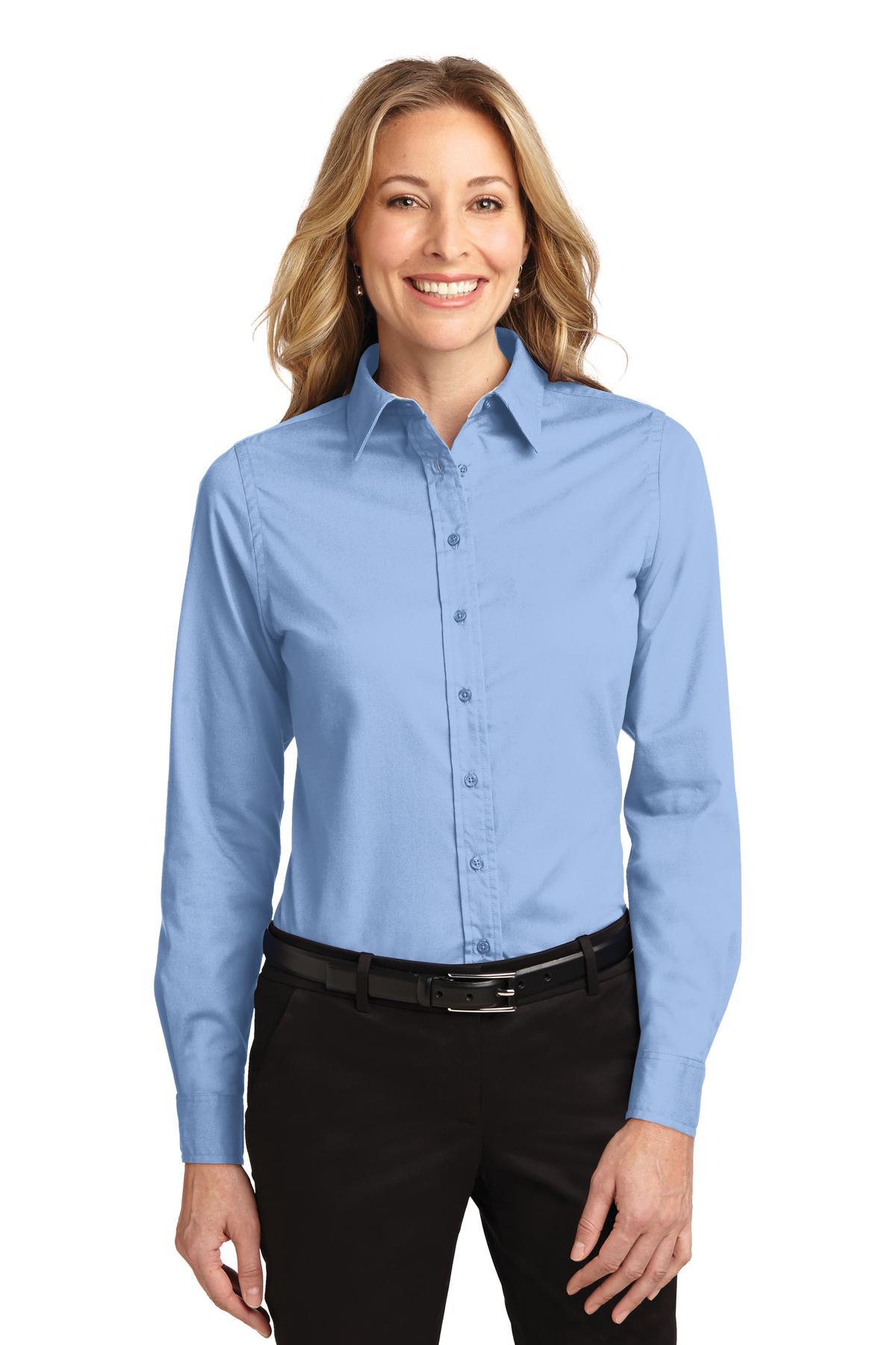 L608 Port Authority® Ladies Long Sleeve Easy Care Shirt Fenta-