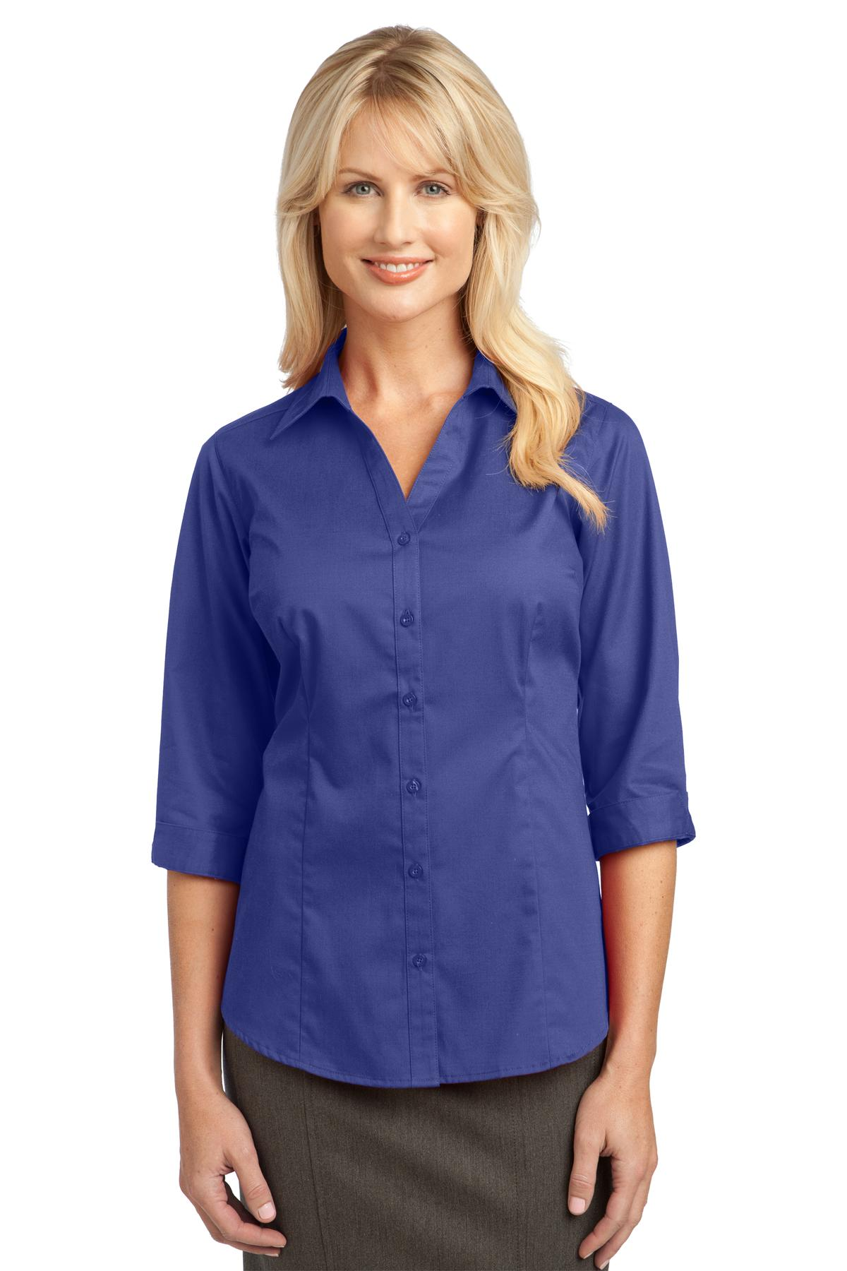 L6290-Improved Port Authority® Ladies 3/4-Sleeve Blouse.-