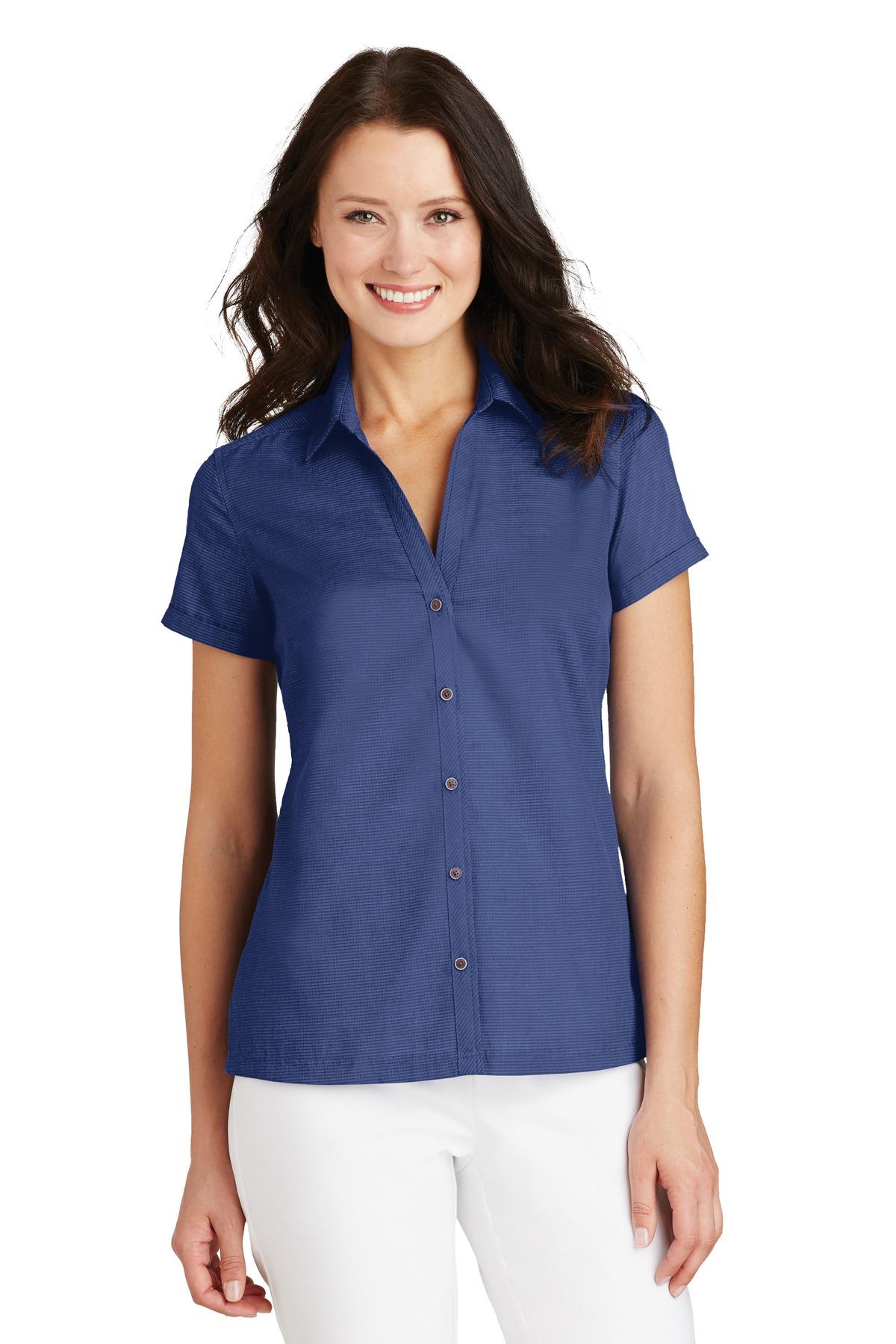 L662 - Port Authority® Ladies Textured Camp Shirt.-