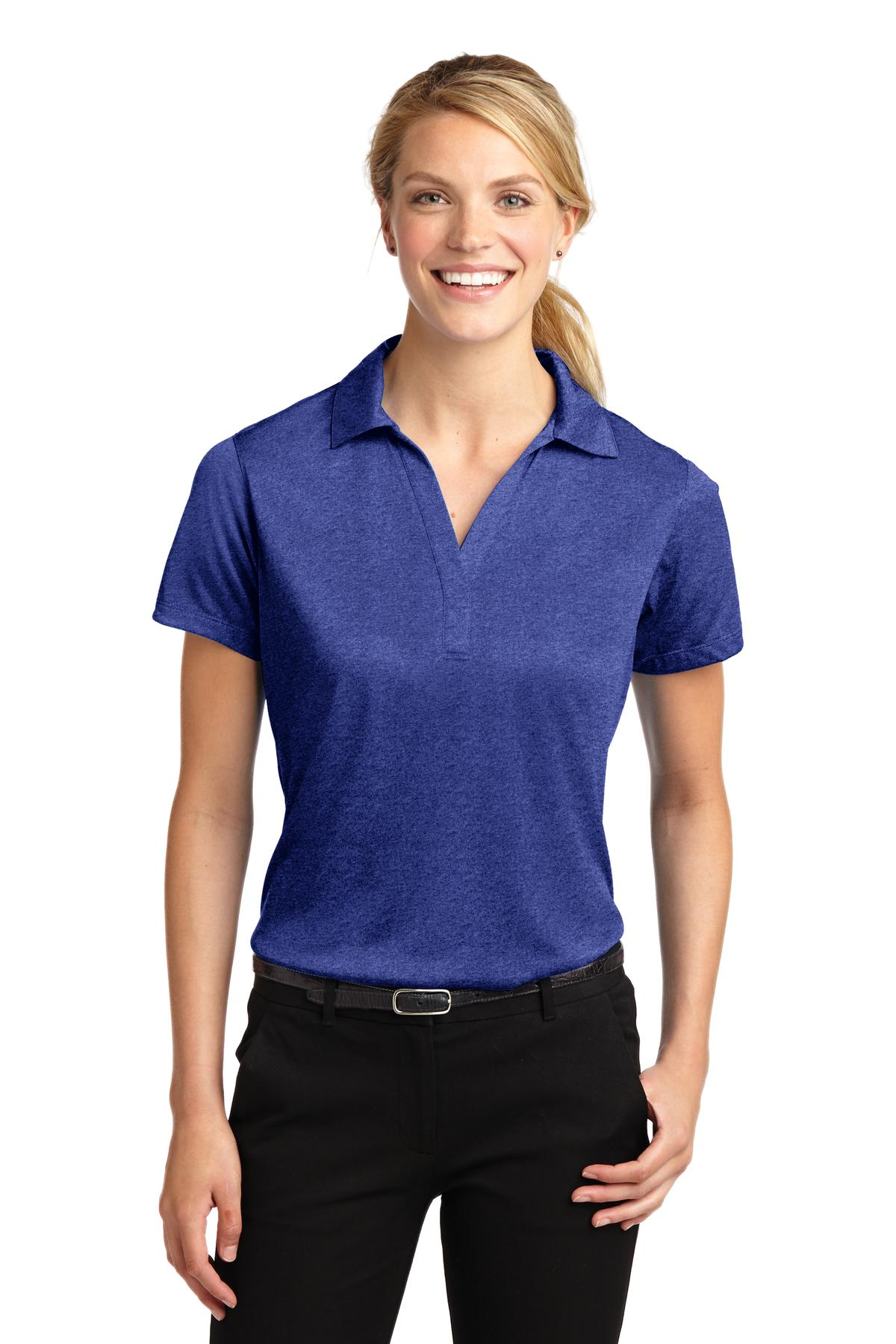Sport-Tek® Ladies Heather Contender Polo.-