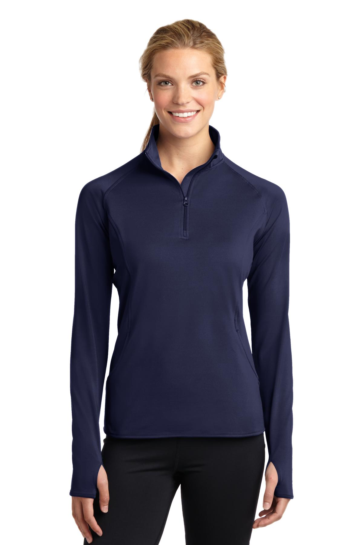 Sport-Tek® Ladies Sport-Wick® Stretch 1/2-Zip Pullover.-