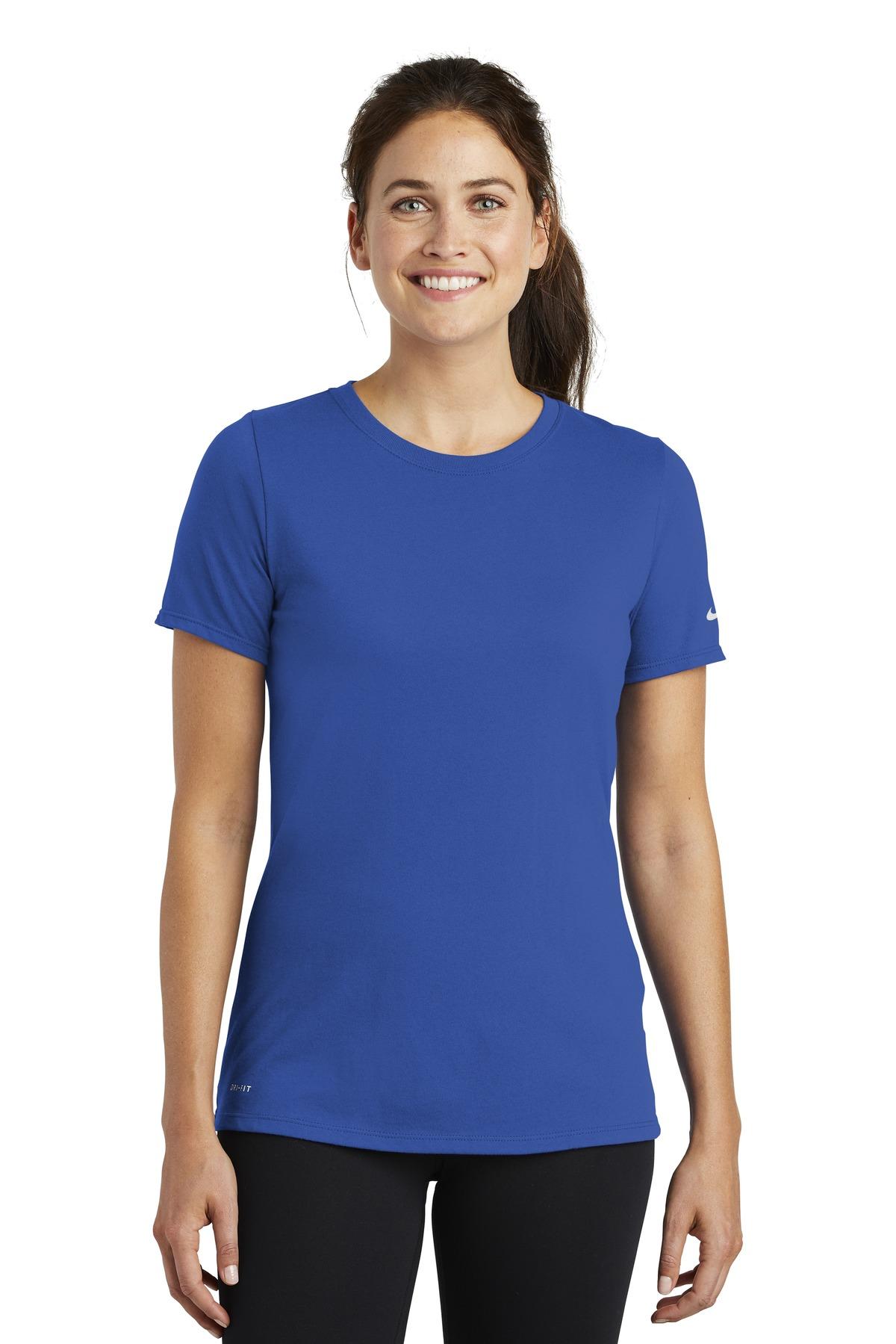 Nike Ladies Dri-FIT Cotton/Poly Scoop Neck Tee.-Nike