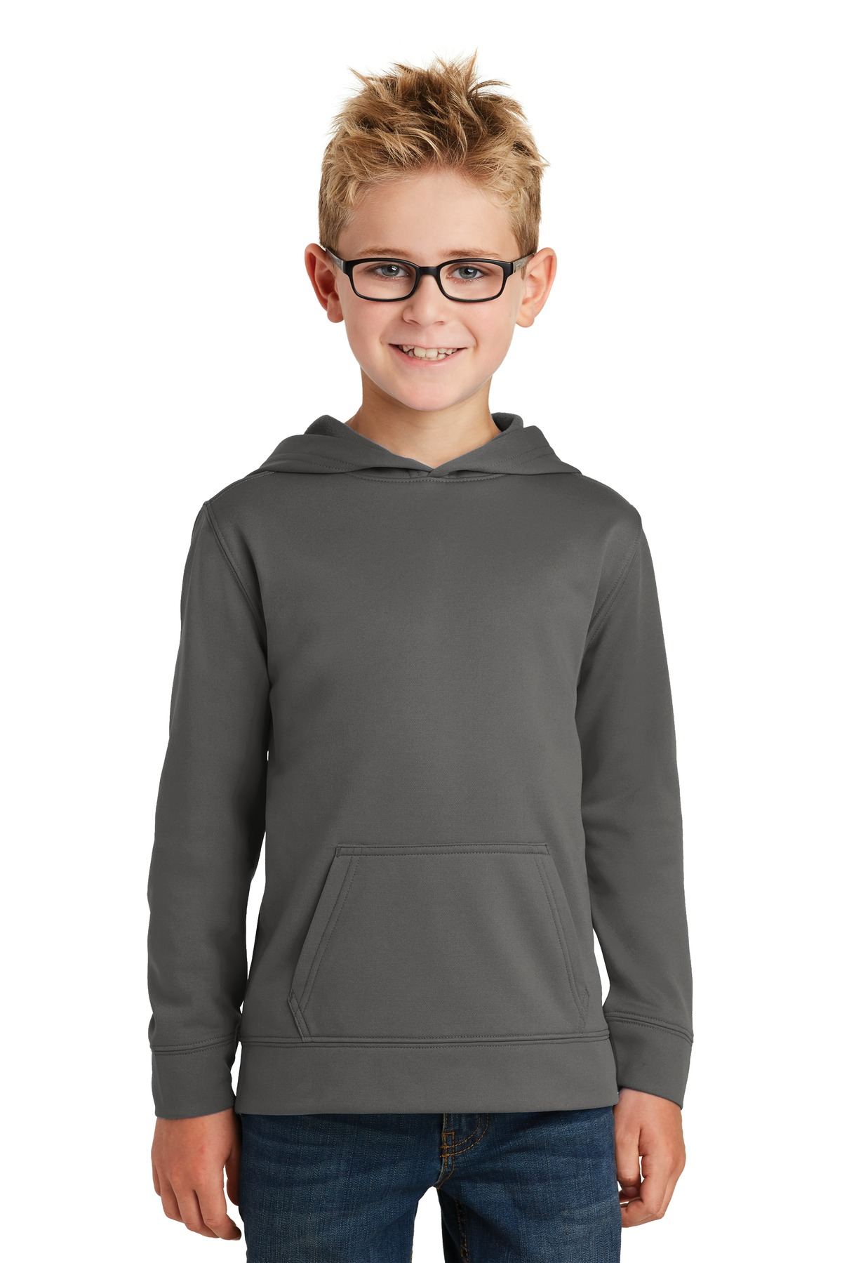 Orange Port /& Company Youth Front Pouch Pocket Pullover Hooded Sweatshirt