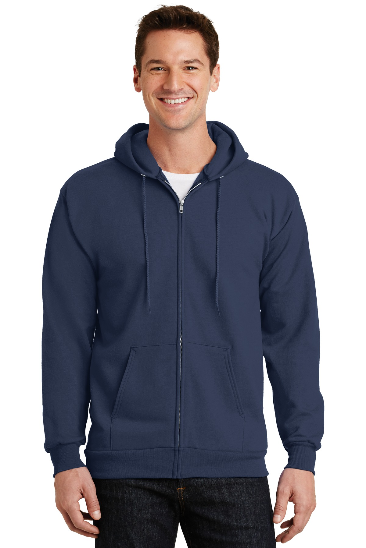 Full-Zip Hooded Sweatshirt Embroidered with Granite Nutrition Logo-Port & Company