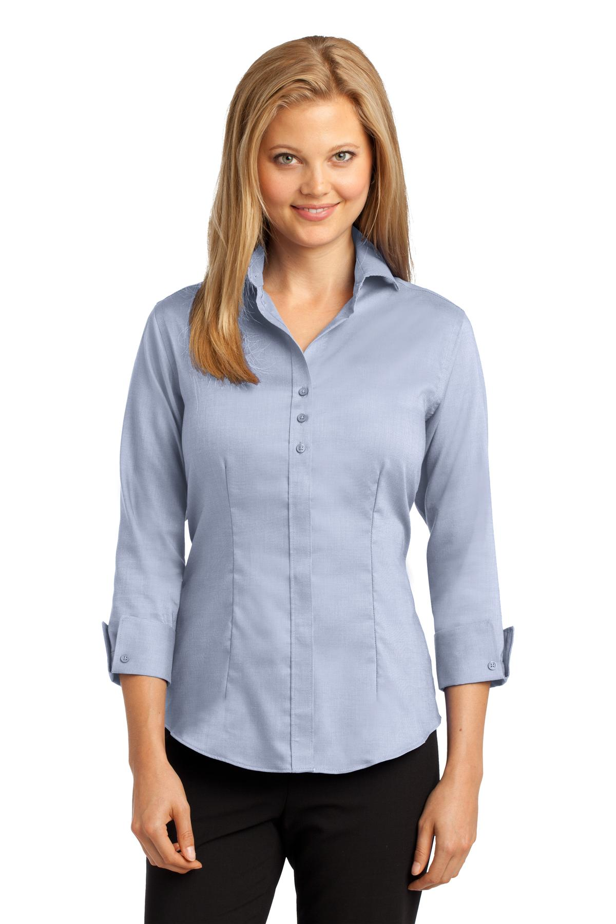 Red House® Ladies 3/4-Sleeve Nailhead Non-Iron Shirt.-Red House