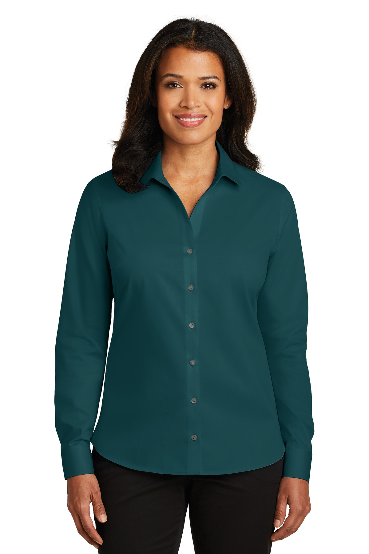 Red House® Ladies Non-Iron Twill Shirt with Buddy's Logo-Red House