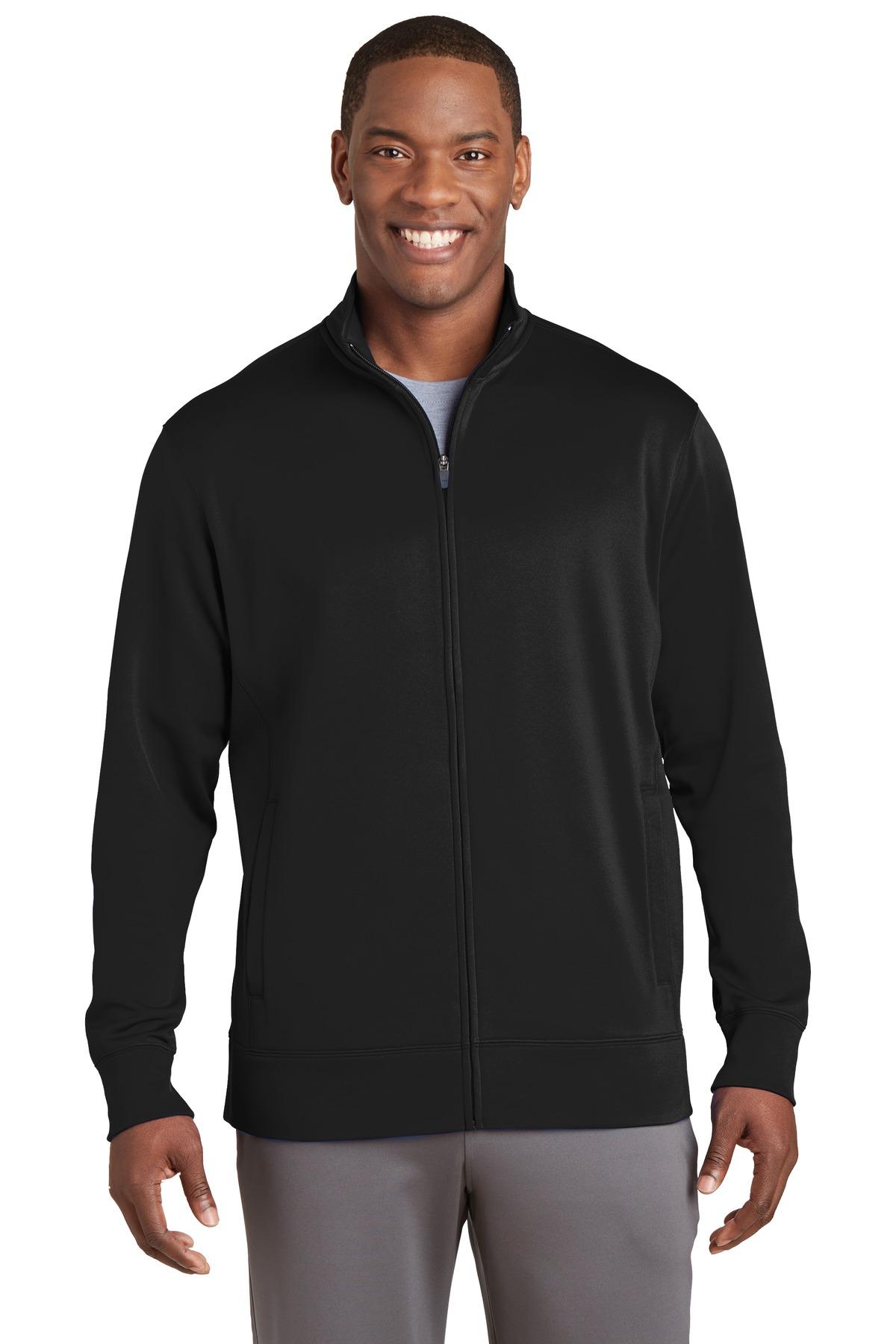 ST241 Sport-Tek® Sport-Wick® Fleece Full-Zip Jacket.-Sport-Tek
