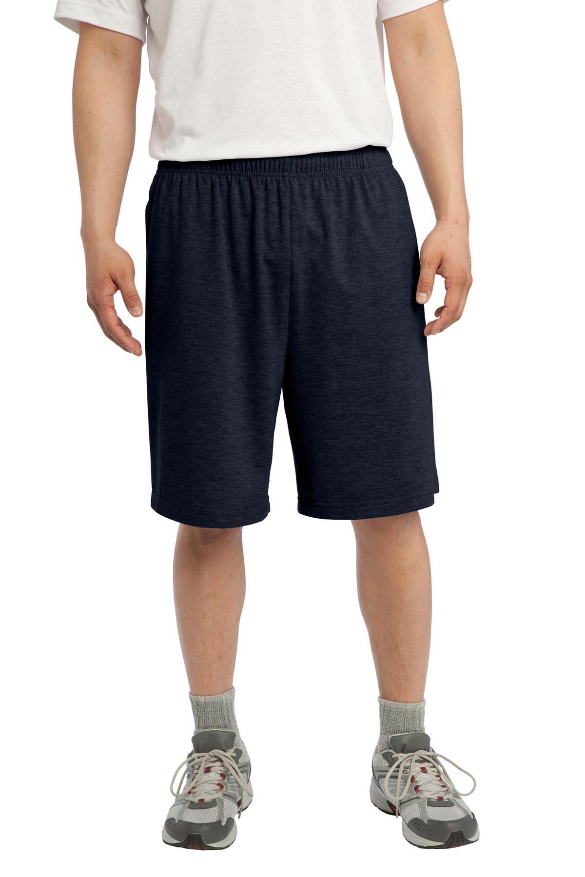 Sport-Tek® Jersey Knit Short with Pockets.-Sport-Tek