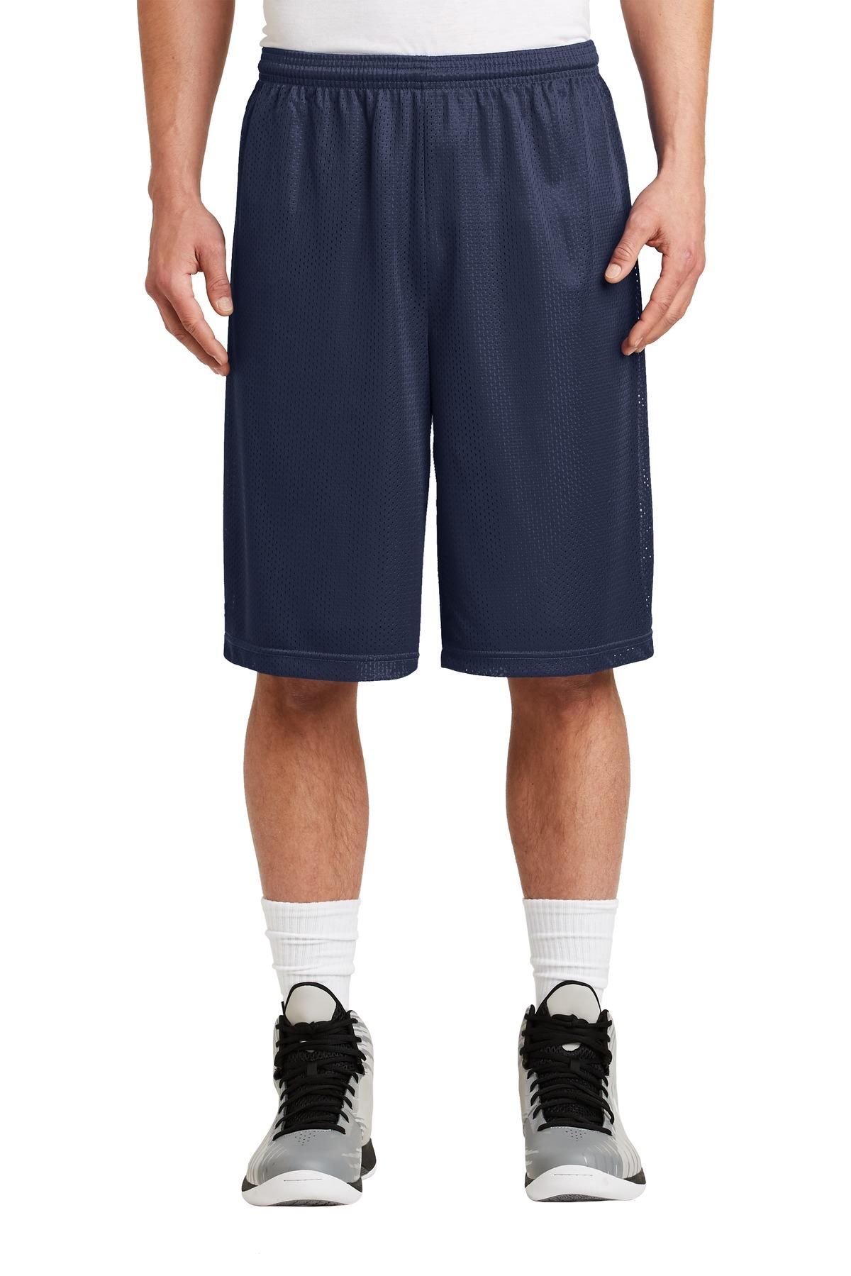 Sport-Tek® Extra Long PosiCharge® Classic Mesh Short.-Sport-Tek