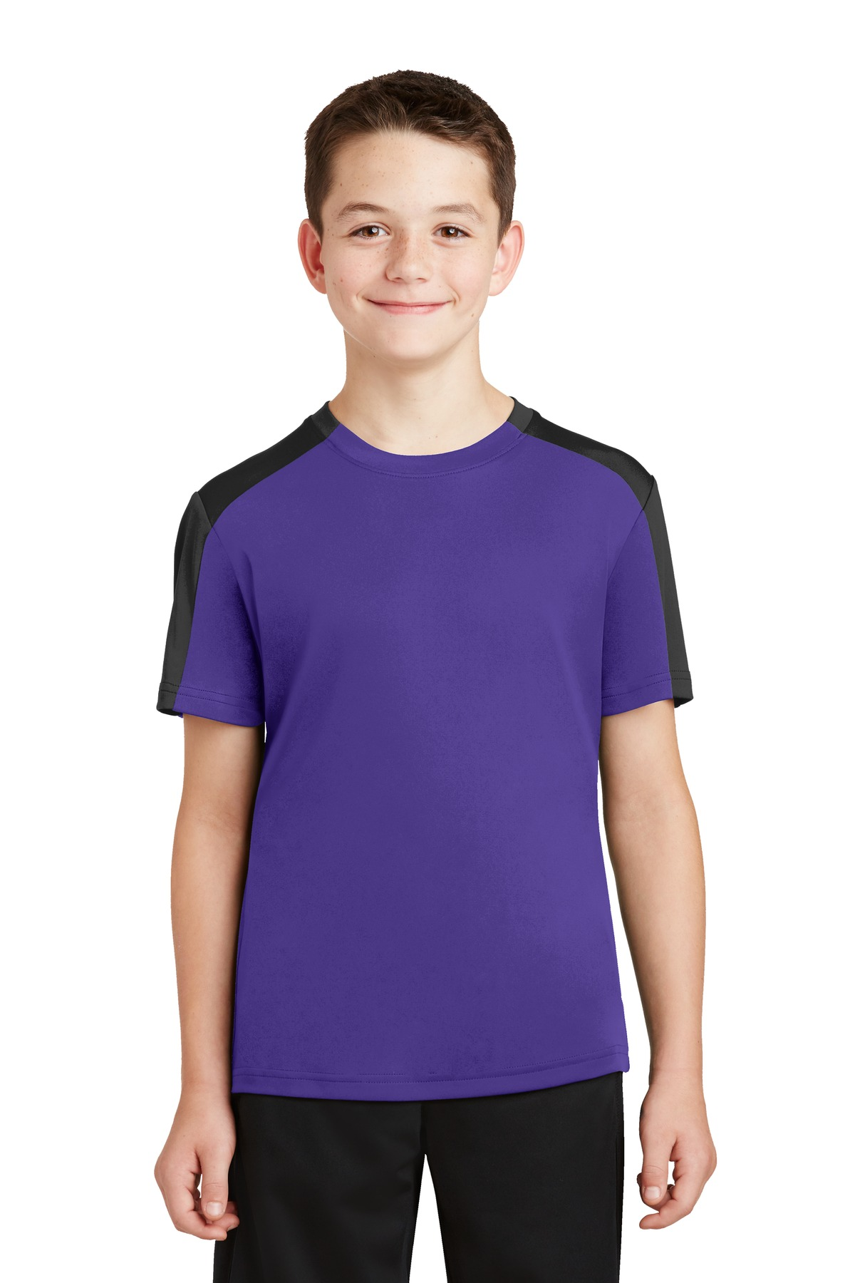 Sport-Tek® Youth PosiCharge® Competitor Sleeve-Blocked Tee.