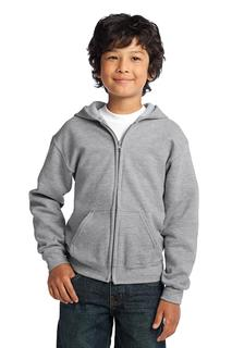 Gildan® Youth Heavy Blend Full-Zip Hooded Sweatshirt.