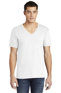 American Apparel Fine Jersey V-Neck T-Shirt.-Anvil