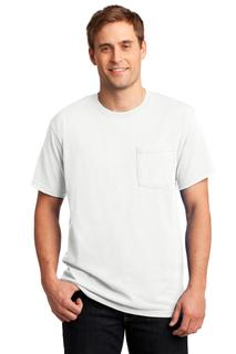 Jerzees - Dri-Power 50/50 Cotton/Poly Pocket T-Shirt.-