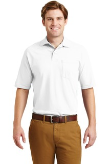 Jerzees Hospitality Polos & Knits ® -SpotShield 5.6-Ounce Jersey Knit Sport Shirt with Pocket.-Jerzees