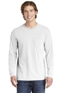 COMFORT COLORS ® Heavyweight Ring Spun Long Sleeve Pocket Tee.-Comfort Colors