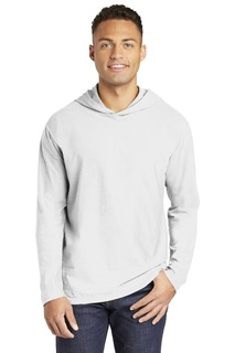 COMFORT COLORS Heavyweight Ring Spun Long Sleeve Hooded Tee.-