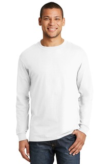 Hanes Beefy-T - 100% Cotton Long Sleeve T-Shirt.-