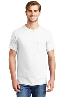 Hanes Beefy-T - 100% Cotton T-Shirt with Pocket.-
