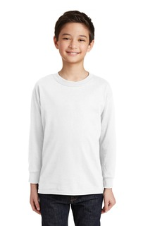 Gildan® Youth Heavy Cotton 100% Cotton Long Sleeve T-Shirt.-Gildan