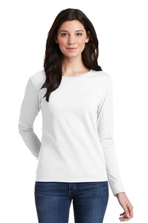 Gildan® Ladies Heavy Cotton 100% Cotton Long Sleeve T-Shirt.