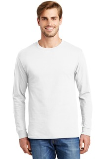 Hanes - Authentic 100% Cotton Long Sleeve T-Shirt.-Hanes