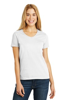 Hanes® Ladies Tagless® 100% Cotton V-Neck T-Shirt.