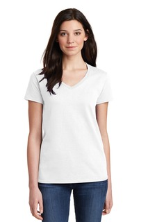 Gildan® Ladies Heavy Cotton 100% Cotton V-Neck T-Shirt.-Gildan