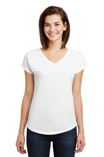 Anvil® Tri-Blend V-Neck Tee.-