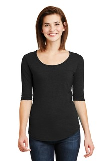 Anvil® Ladies Tri-Blend Deep Scoop Neck 1/2-Sleeve Tee.-