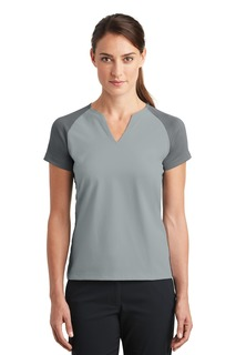 Nike Ladies Dri-FIT Stretch Woven V-Neck Top.-Nike