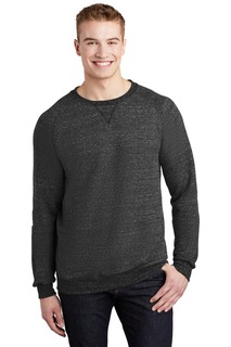 Jerzees Snow Heather French Terry Raglan Crew-