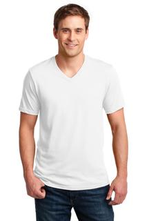 Anvil® 100% Combed Ring Spun Cotton V-Neck T-Shirt.
