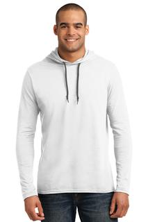 Anvil® 100% Ring Spun Cotton Long Sleeve Hooded T-Shirt.