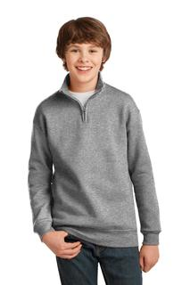 Jerzees® Youth NuBlend® 1/4-Zip Cadet Collar Sweatshirt.-