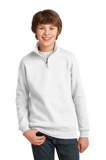 Jerzees® Youth NuBlend® 1/4-Zip Cadet Collar Sweatshirt.