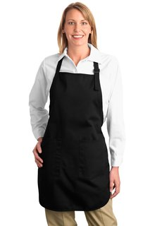 Port Authority® Full-Length Apron with Pockets.-